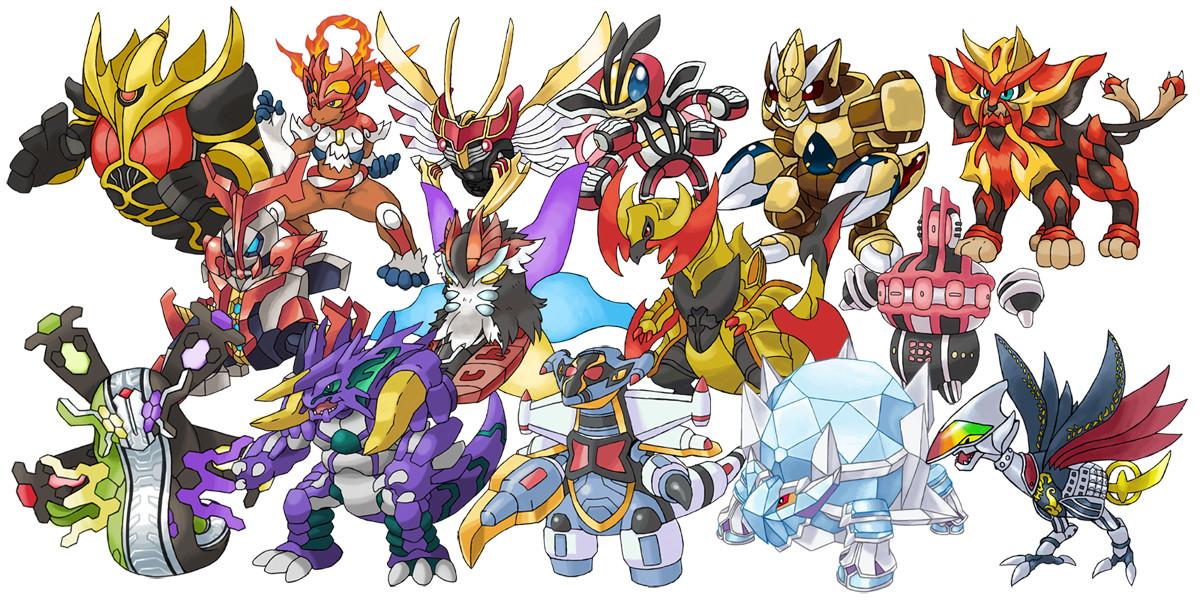 Kamen Rider Final Forms as Pokemon