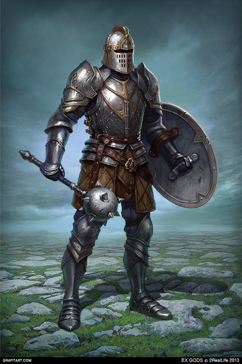 Fantasy Medieval Knight Character Art Season 3...