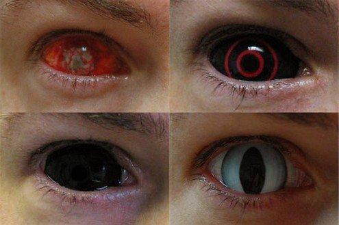 Линзы для глаз своими руками