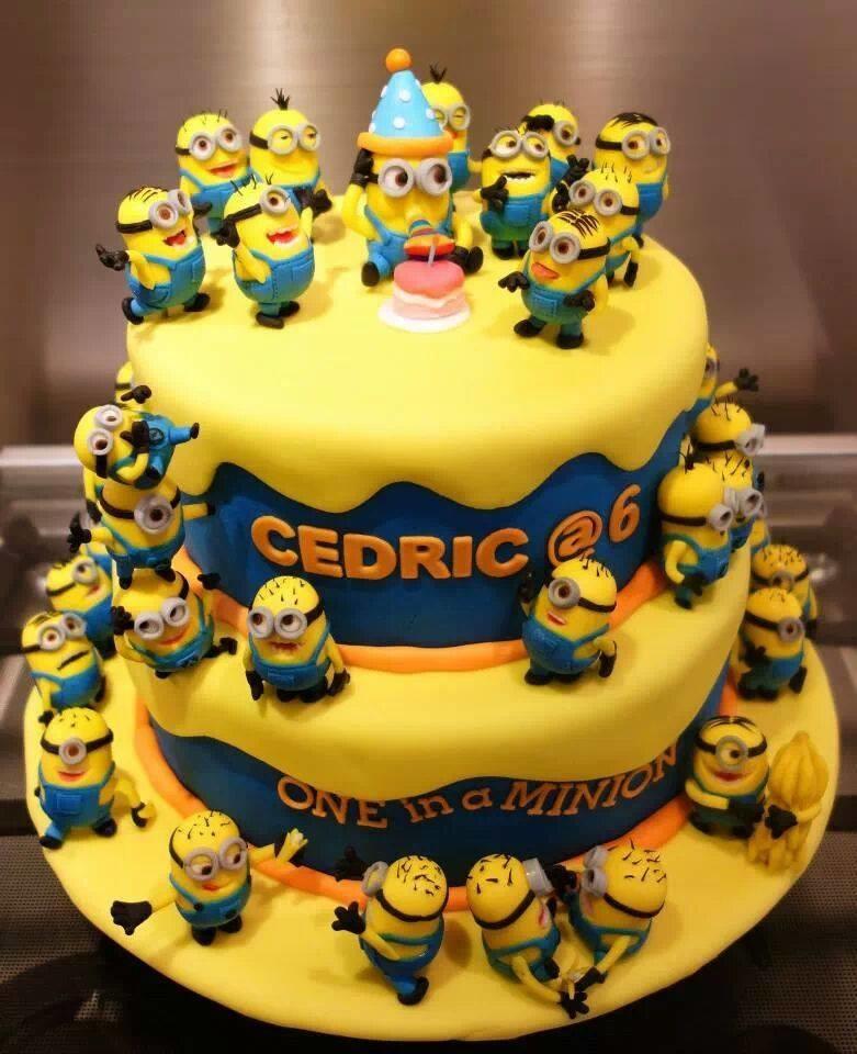 minion birthday cake. .. More like belongs in the trash. nice