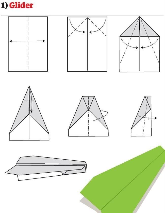 Как делать самолётик из бумаги