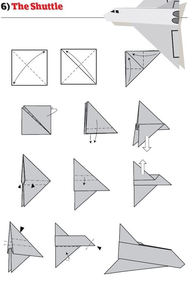 Как из бумаги сделать самолет поэтапно