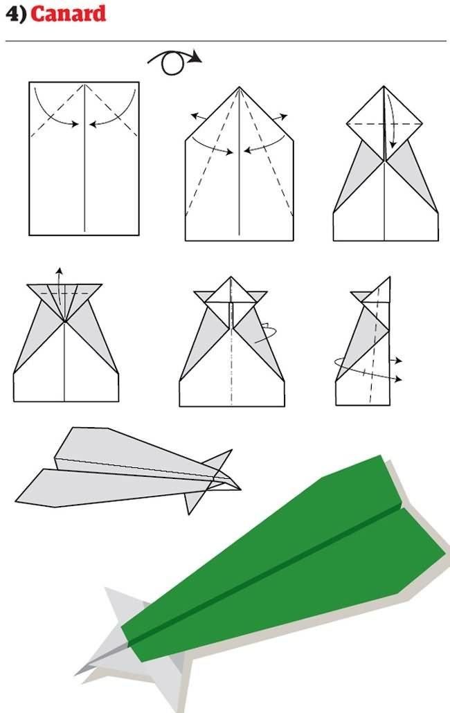 Как сделать очень легко самолет из бумаги видео