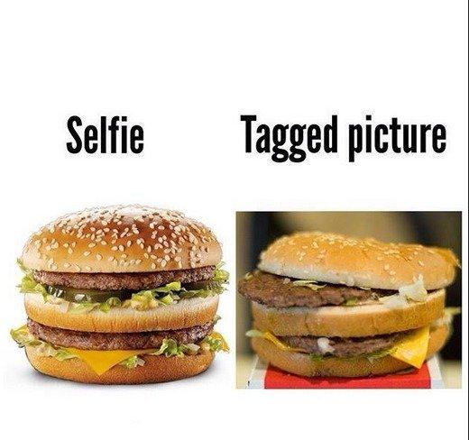 selfie vs tagged | Rebrn.com