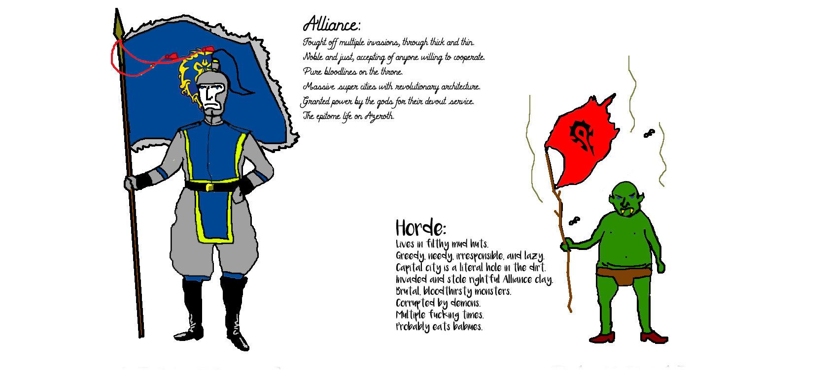 Horde-Alliance Banner Brushes by lady-allyria2010 on DeviantArt