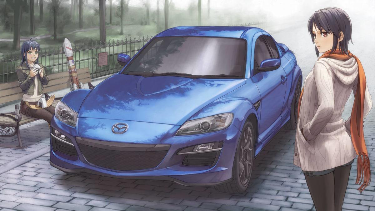 [HD] Anime Girl + Car