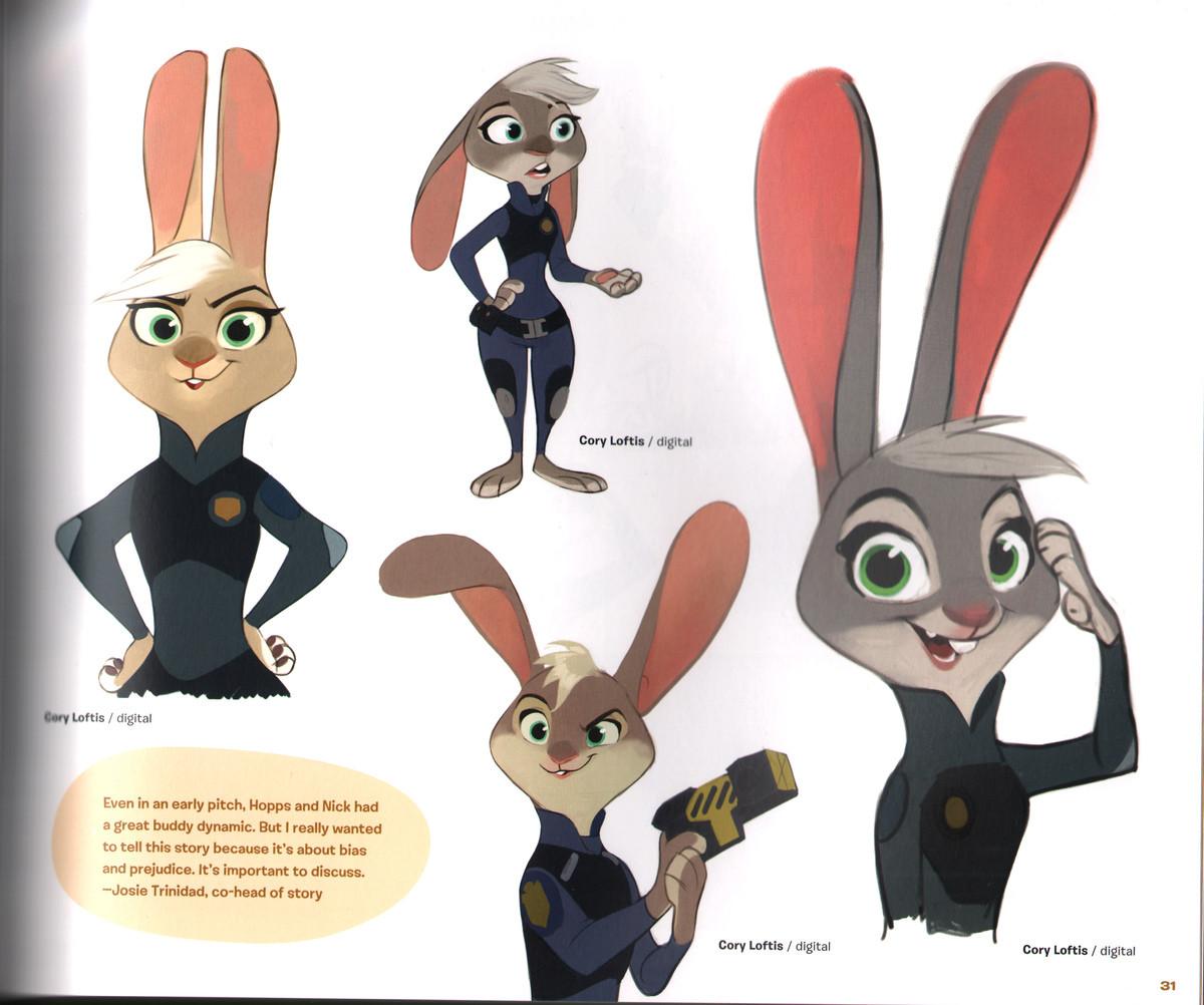 Ausmalbild Nick Und Judy Hopps Aus Zootopia: Judy Hopps Design