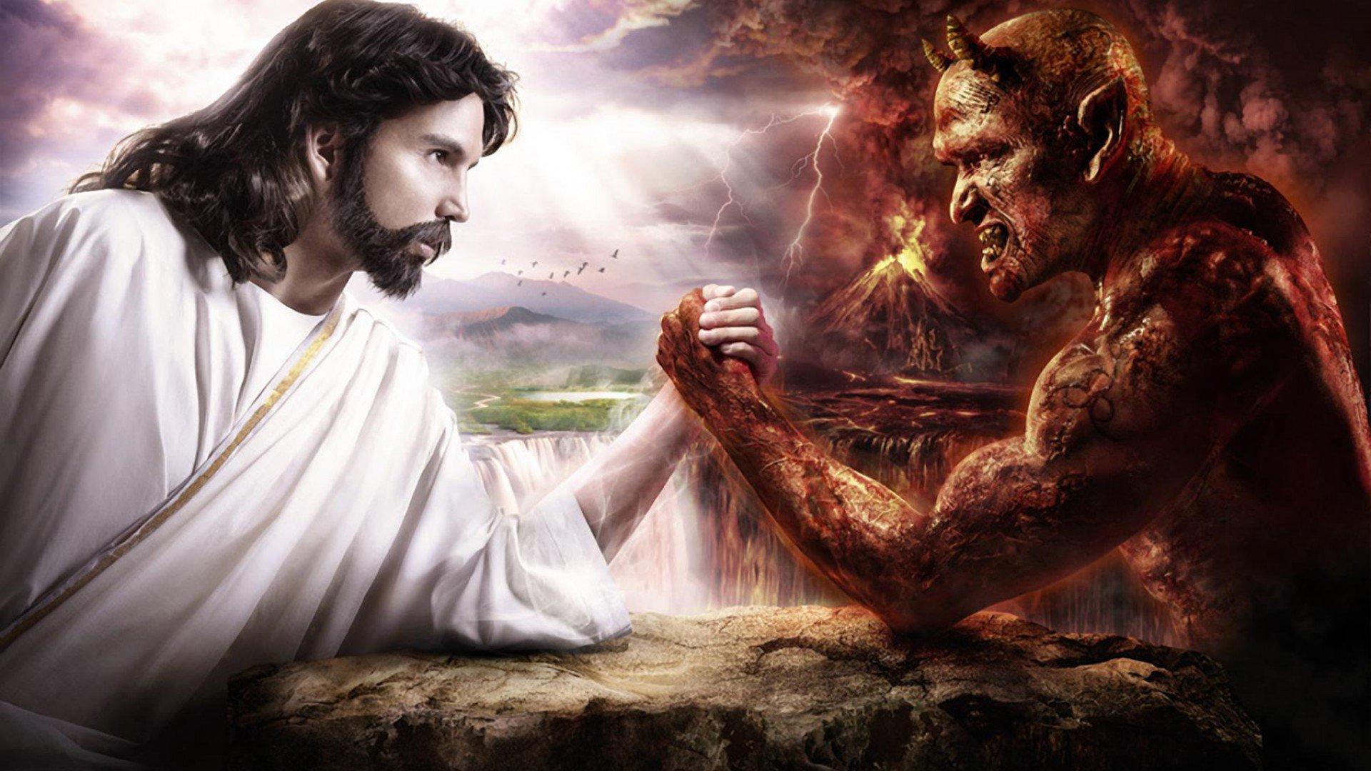 jesus vs satan hd