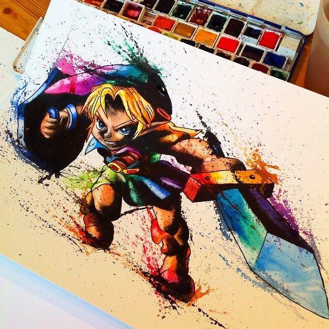 Amazing Zelda Painting Cool