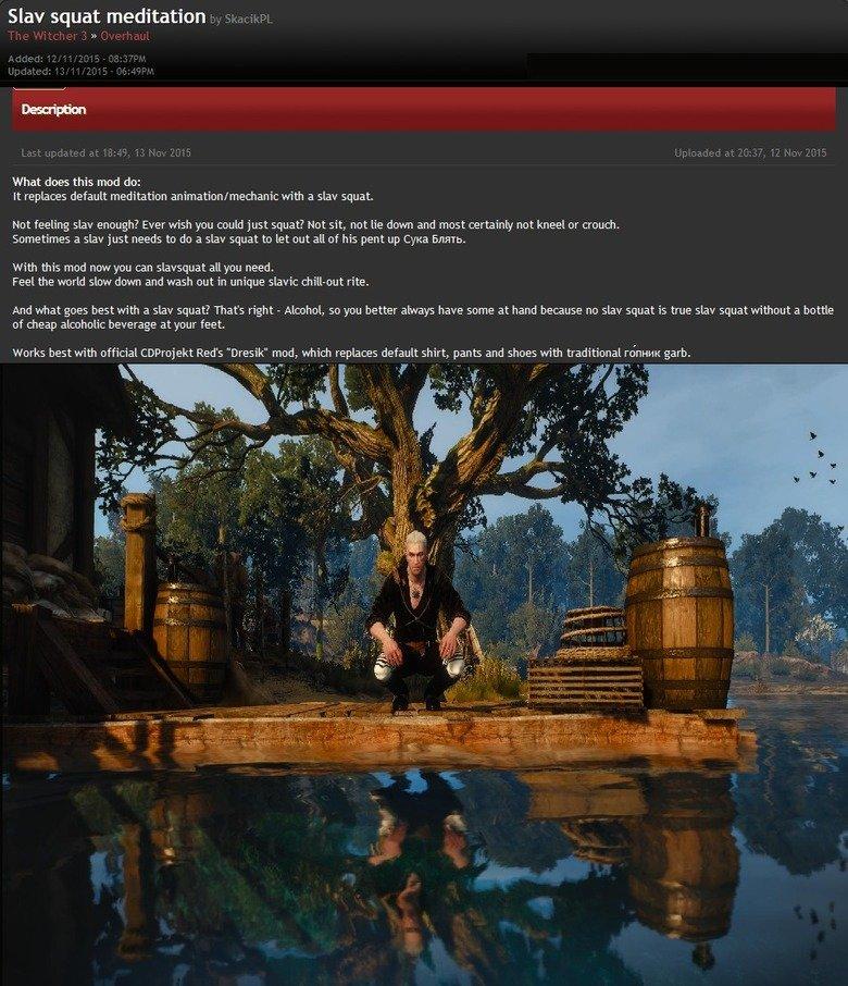 Best Witcher 3 mod, cyka!