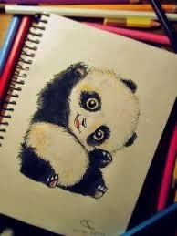Cute Baby Panda Drawing
