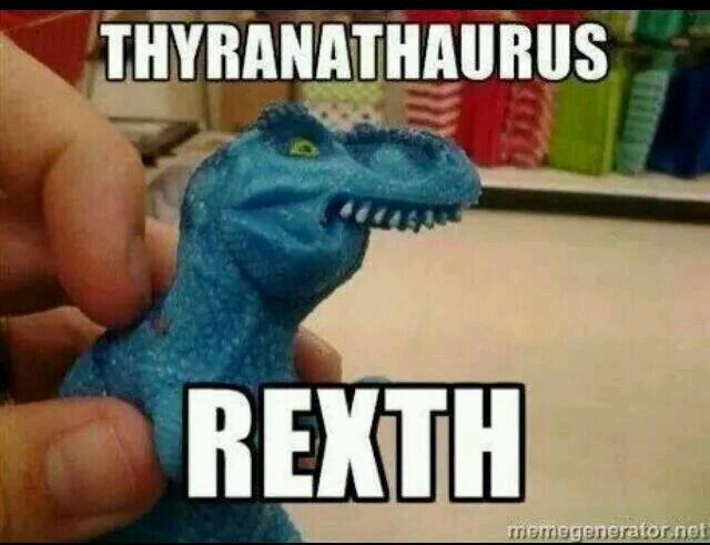 funny t rex meme