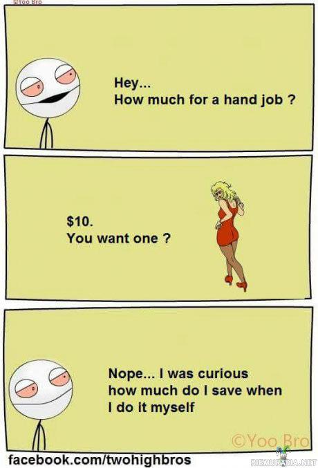 I want a handjob not absolutely