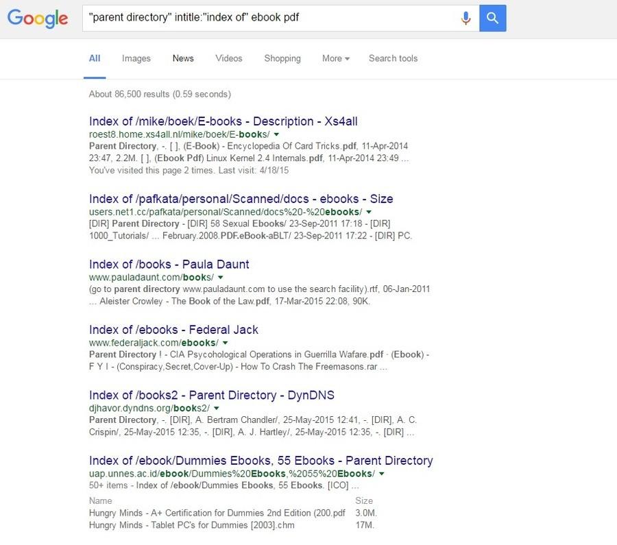How to Google dork