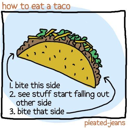 how to eat a taco essay