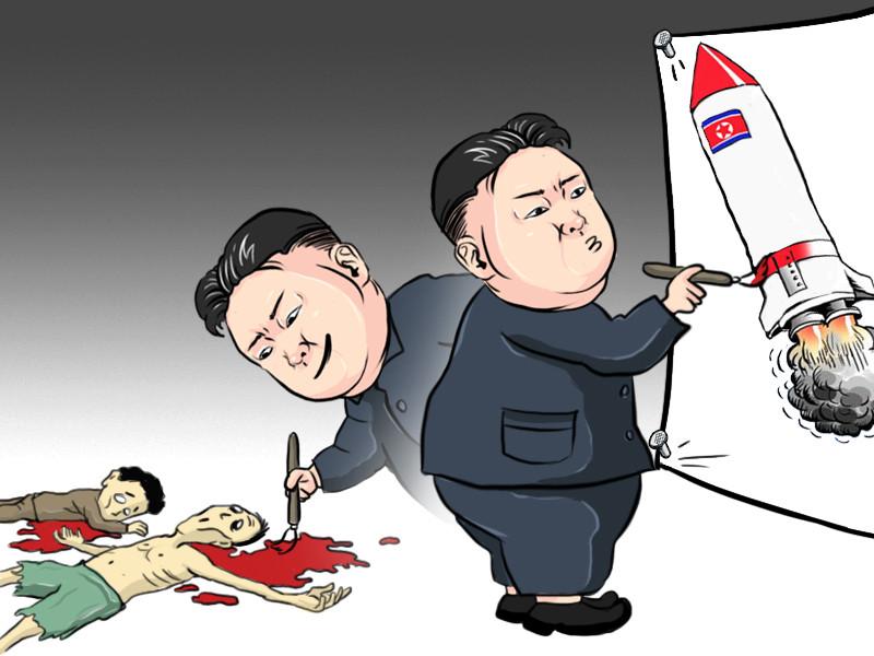 Resultado de imagem para cartoon kim jong un