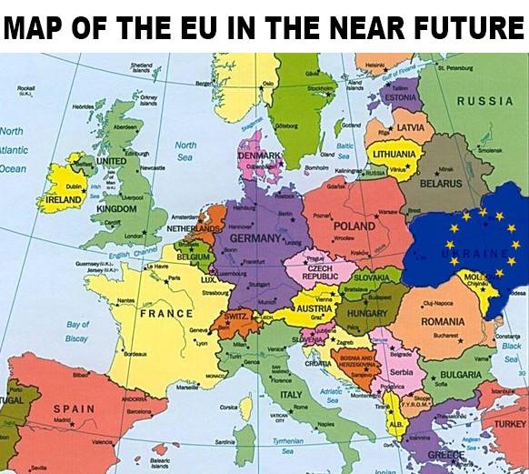 Map of the EU in the near future