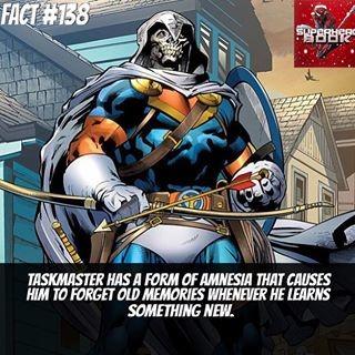 Origin & Marvel Facts Comp 7. Taskmaster