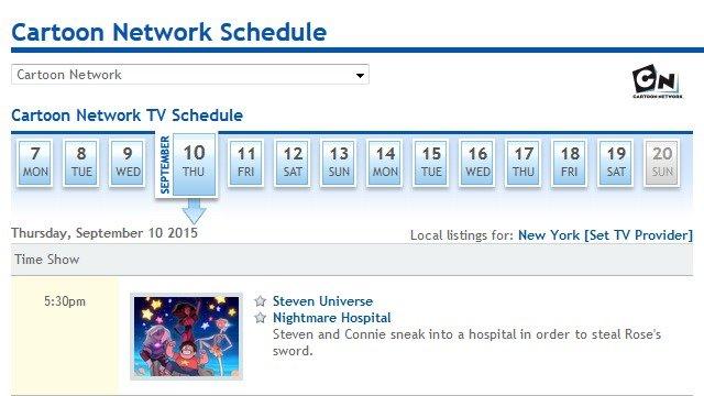 cartoon network tv schedule steven universe cartoonwjd com