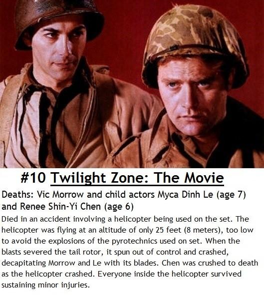 Ten tragic movie set deaths