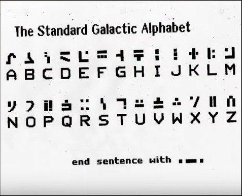The Standard Galactic Alphabet