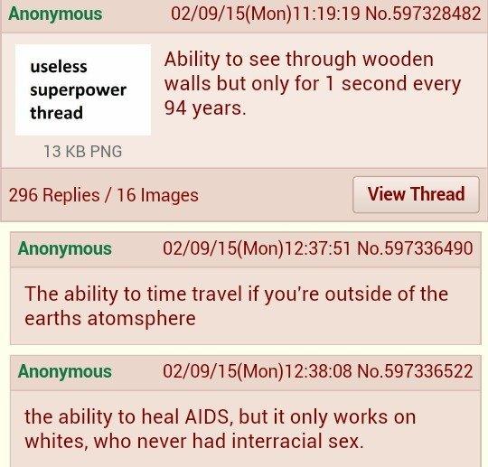 Useless Superpowers